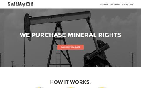 Screenshot of Home Page sellmyoil.com - SellMyOil.com - We Purchase Mineral Rights and Royalties - captured Sept. 26, 2015