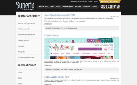 Screenshot of Blog superiacommerce.co.uk - eCommerce Blog-CMS Blog-Superia Commerce Blog - captured Oct. 8, 2014