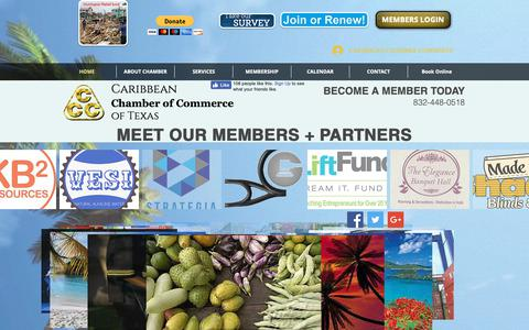 Screenshot of Home Page caribbeanchamber.org - caribbeanchamber - captured Sept. 27, 2018