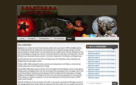 Screenshot of FAQ Page spantenna.com - S.P.A.N.T.E.N.N.A » F.A.Q - captured Sept. 30, 2014