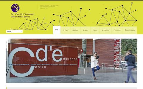 Screenshot of Home Page parcudg.com - Parc UdG Inici - Parc UdG - captured June 18, 2015