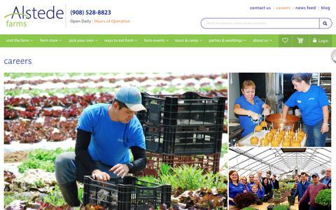 Screenshot of Jobs Page alstedefarms.com - careers | Alstede Farms | NJ - captured July 29, 2018