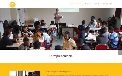 Screenshot of Signup Page thegolden.co - Training - The Golden Company - captured Feb. 25, 2016