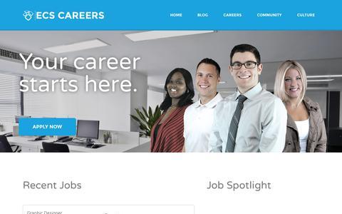 Screenshot of Jobs Page ecsgrid.com - ECS Careers | Community, Culture, Careers – Energy Curtailment Specialists Inc. - captured Oct. 2, 2014