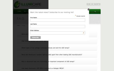 Screenshot of FAQ Page illumicaregroup.com - F.A.Q. - captured Nov. 14, 2018