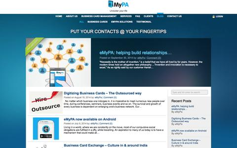 Screenshot of Blog emypa.com - Blog | eMyPA - captured Oct. 3, 2014