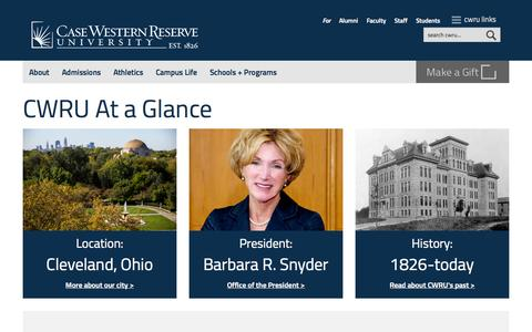 Screenshot of About Page case.edu - About | Case Western Reserve University - captured Oct. 28, 2014