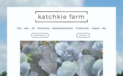 Screenshot of Home Page katchkiefarm.com - Katchkie Farm - captured Sept. 20, 2018