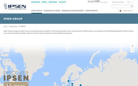 Screenshot of Locations Page ipsen.com - Locations - IPSEN GROUP - captured Dec. 2, 2016