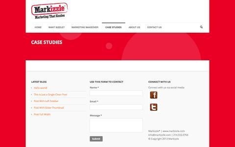 Screenshot of Case Studies Page markizzle.com - Markizzle   » Case Studies - captured Oct. 27, 2014