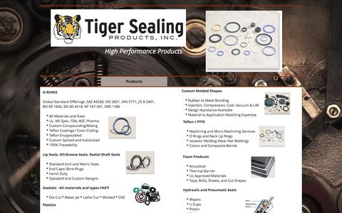 Screenshot of About Page tigersealing.com - Tiger Sealing Products | Products - captured Oct. 24, 2017