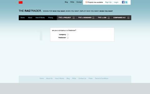 Screenshot of Signup Page theragtrader.com - Register | The Ragtrader - captured Oct. 9, 2014