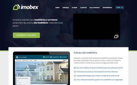 Screenshot of Home Page imobex.com.br - Sites para imobiliárias e sites para corretores de imóveis - Imobex - captured Dec. 9, 2016