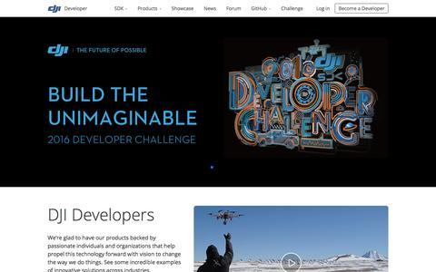 Screenshot of Developers Page dji.com - DJI Developer - captured Jan. 5, 2016