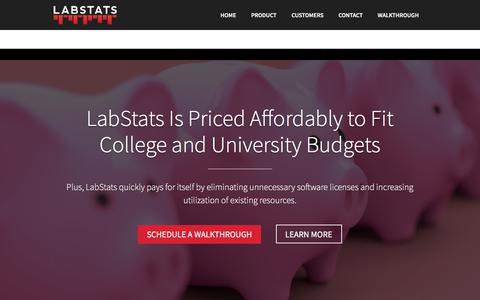 Screenshot of Pricing Page labstats.com - LabStats Pricing | Get a Personalized Quote - captured July 15, 2018