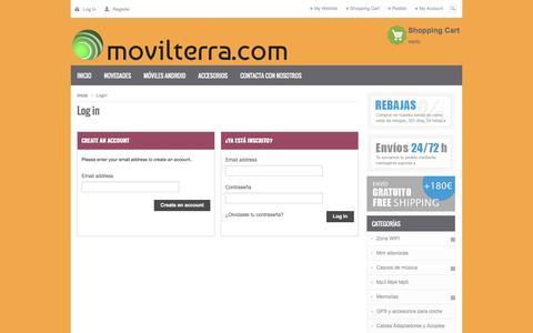 Screenshot of Login Page movilterra.com - Autenticación - MovilTerra2014 S.L. - captured Oct. 7, 2014