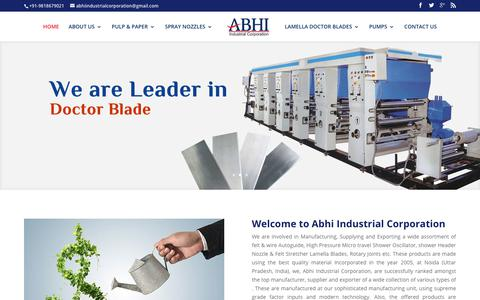 Screenshot of Home Page abhiindustrial.com - Auto Guide for Felt & Wire : Auto Guide Manufacturer - captured Oct. 2, 2018