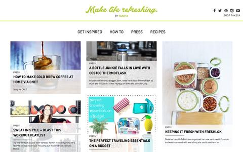 Screenshot of Press Page takeyausa.com - Takeya - captured Aug. 11, 2016