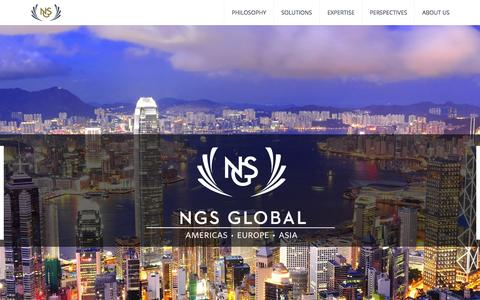 Screenshot of Home Page ngs-global.com - NGS Global - NGS Global - captured Oct. 7, 2014