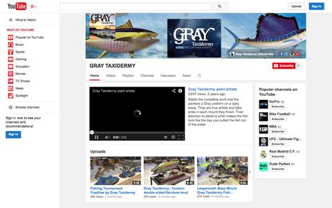 Screenshot of YouTube Page youtube.com - - YouTube - captured Oct. 23, 2014