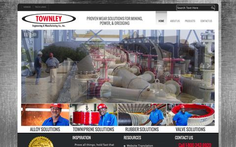 Screenshot of Home Page townley.net - Home - Townley Engineering & Manufacturing Co., Inc. - captured Oct. 12, 2014