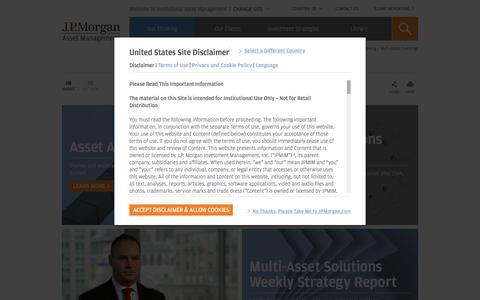 Multi-Asset Investing -   J.P. Morgan Institutional Asset Management