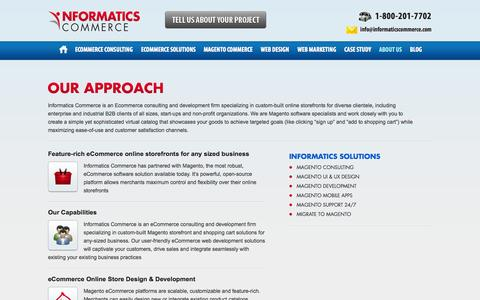 Screenshot of About Page informaticscommerce.com - Magento Commerce Our Approach | Informatics Commerce - captured Sept. 26, 2014