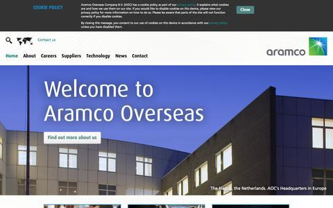 Screenshot of Home Page aramcooverseas.com - Aramco | Home - captured Feb. 5, 2016