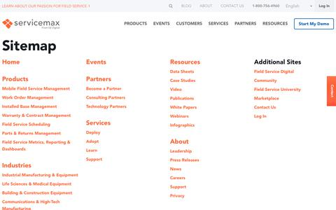 Sitemap   ServiceMax