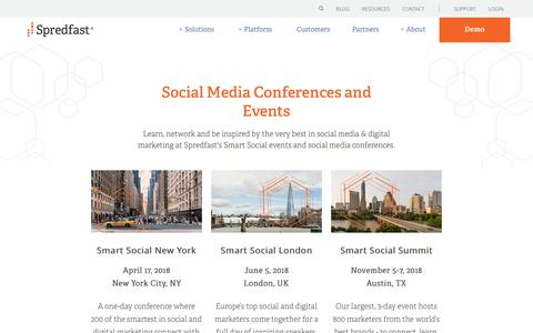 Screenshot of spredfast.com - Spredfast Conferences and Events | Spredfast - captured Nov. 30, 2017