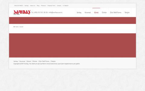 Screenshot of Blog saribas.com.tr - Güncel | Sarıbaş Galvaniz - Türkiye'deki Kaliteli Galvaniz Profil Üretim Tesisi - captured Sept. 28, 2017