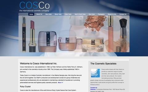Screenshot of Home Page coscous.com - Welcome to Cosco International Inc - captured Jan. 30, 2015