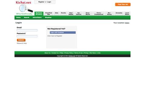 Screenshot of Login Page kichai.net - Kichai.net - Everything u need online everyday. - captured Nov. 3, 2014