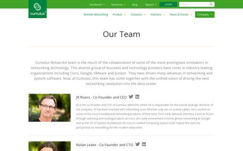 Screenshot of Team Page cumulusnetworks.com - Cumulus Networks | Cumulus Team - captured July 20, 2014