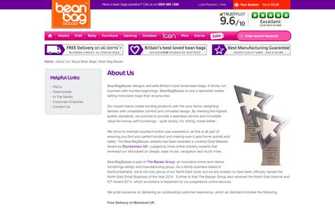 Screenshot of About Page beanbagbazaar.co.uk - About Us | About Bean Bags | Bean Bag Bazaar - captured Nov. 2, 2014