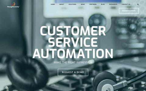Screenshot of Support Page thoughtonomy.com - Our RPA Software Improves The Customer Experience | Thoughtonomy - captured July 18, 2019