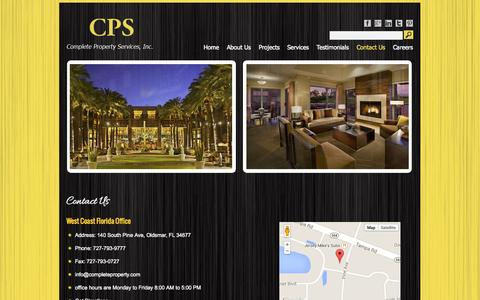 Screenshot of Contact Page completeproperty.com - Contact Us | CPS - captured Oct. 3, 2014