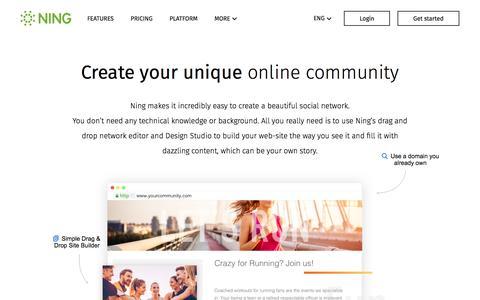 Screenshot of ning.com - Features - Ning.com - captured April 9, 2017