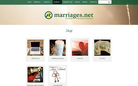 Screenshot of Products Page marriages.net - Products Archive - Marriages.net - captured Feb. 2, 2016