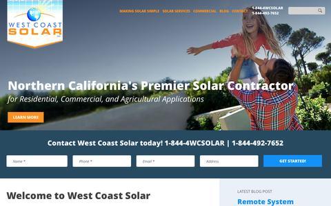 West Coast Solar | Northern California's Solar Contractor