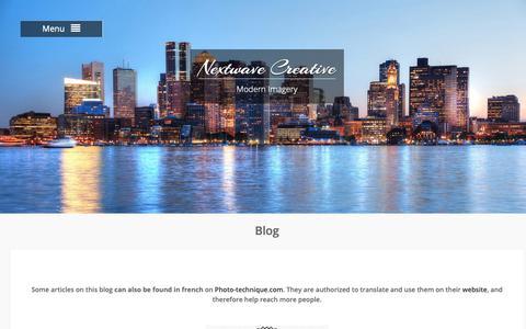 Screenshot of Blog nextwave-creative.com - Blog - Nextwave Creative - Blog on Photography by Stockphotodesign - - captured Oct. 20, 2018