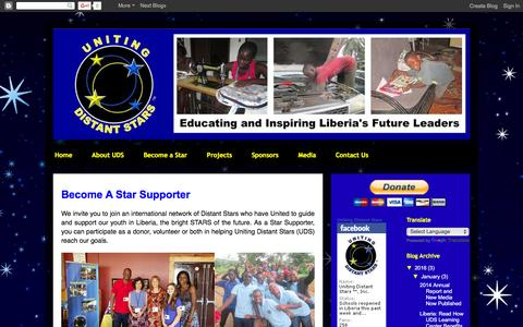 Screenshot of Testimonials Page unitingdistantstars.com - Uniting Distant Stars™ : Become a Star Supporter - captured Feb. 13, 2016
