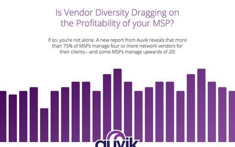 Screenshot of Landing Page auvik.com - Report: Managing Network Vendor Diversity - captured May 7, 2019