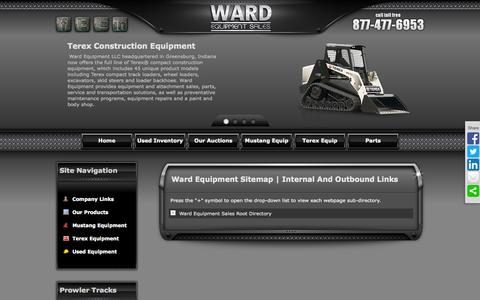 Screenshot of Site Map Page wardequip.com - Ward Equipment Website Sitemap - captured Oct. 7, 2014