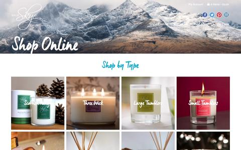 Screenshot of Products Page skyecandles.co.uk - Buy candles from the Isle of Skye Candle Company - captured Nov. 26, 2016