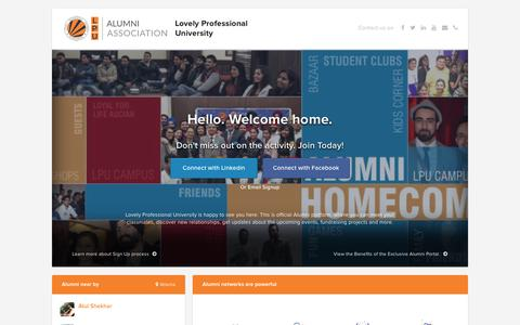 Lovely Professional University             Alumni Website
