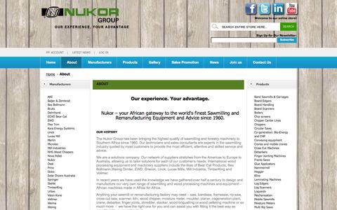 Screenshot of About Page nukor.co.za - About Us - captured Sept. 19, 2014