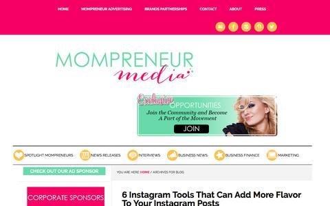 Screenshot of Blog mompreneurmedia.com - Blog Archives   Mompreneur Media - captured Sept. 7, 2016