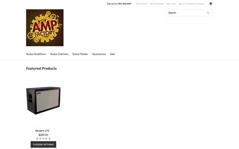 Screenshot of Home Page whiteboxeng.com - Quality Guitar Amplification at Great Values - captured Oct. 8, 2014