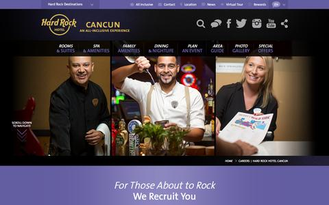 Careers | Hard Rock Hotel Cancun